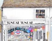 Sundae Sundae Whitstable A5 Print