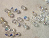 4mm, Swarovski, Art 5328, Faceted Crystal Xilion Bicone, Crystal Clear AB - Available in 20, 30 & 50 Bead Pkgs, Larger Pkgs, Factory Packs