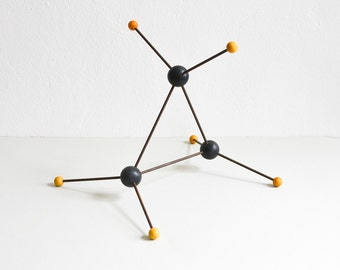 RESERVED Vintage molecular atom model chemistry lab supply geometric sculpture teaching material Ref: 638