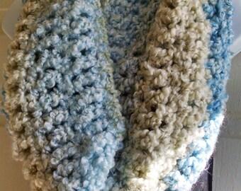 Chunky Crochet Cowl Infinity Scarf Soft