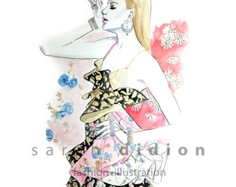 Fashion Illustration Art Print watercolor print
