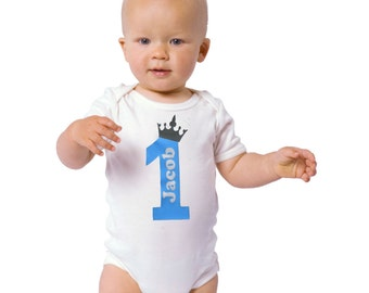 BOY First Birthday Personalized Outfit / 1st Birthday Boy's Bodysuit / First Birthday Boy Outfit / Personalized Baby Boy  Boy Birthday Shirt