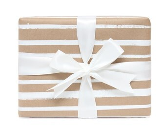 White Stripes Gift Wrap