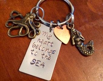My Heart Belongs To The Sea Keychain