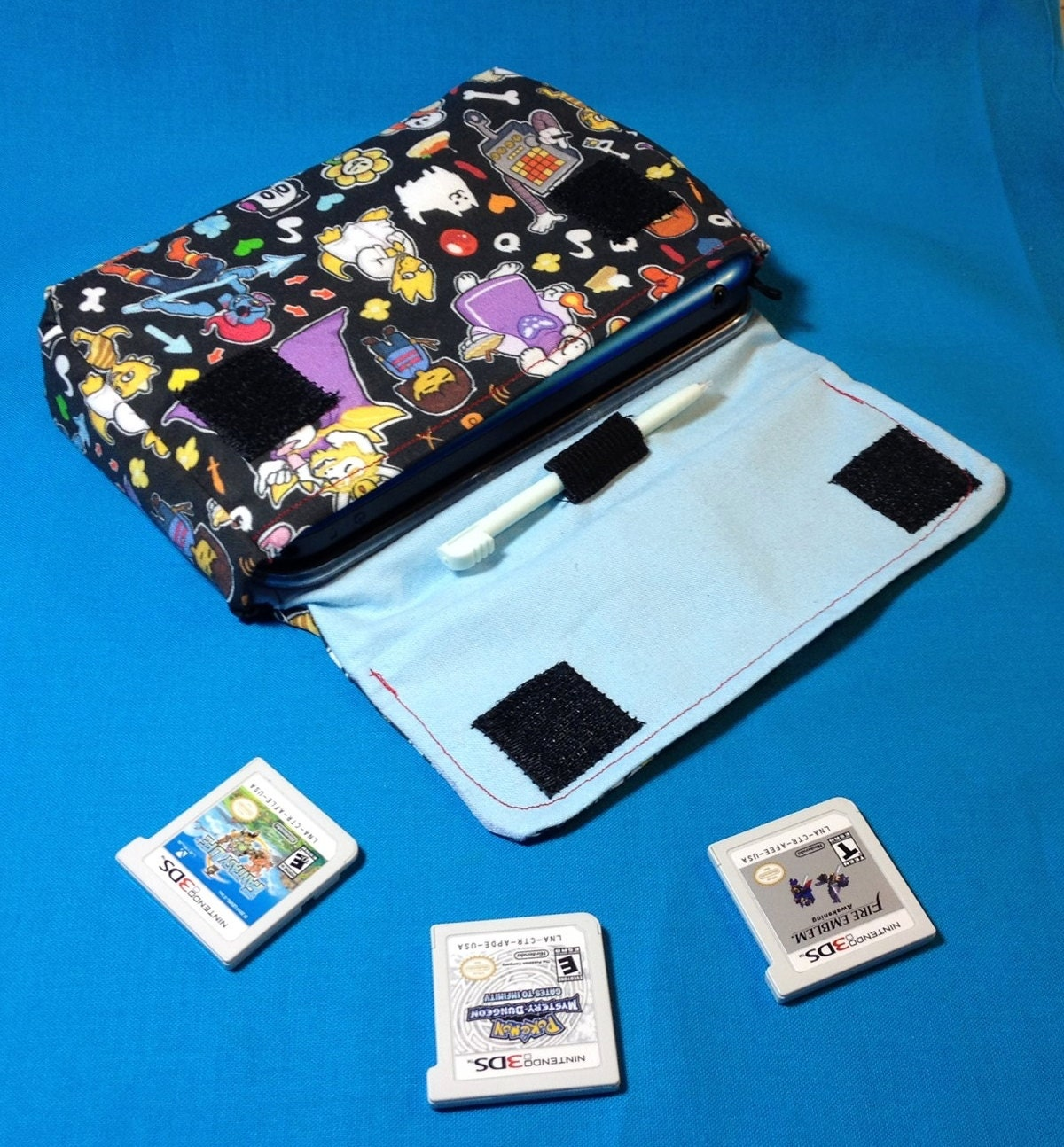 Scrapbook paper carrying case - Undertale Inspired 3ds 3ds Xl New 3ds Carrying Case Made To Order
