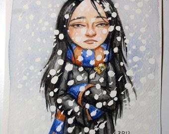Cho Chang Watercolor Painting