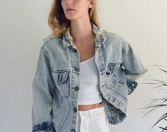 Holey Jean Jacket size M