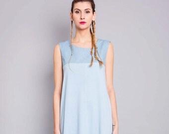 """Dress """"Triphala"""", denim blue"""