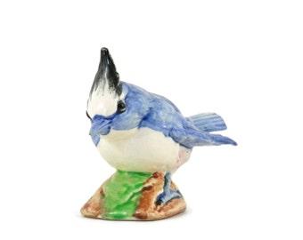 Stangl Blue Jay Vintage Pottery Blue Bird Figurine Artist Signed