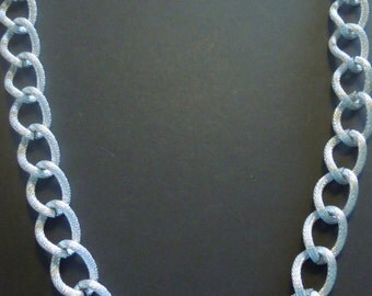 Silver Chain Large Chunky Necklace Vintage