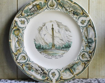 Vintage Henry Hudson Memorial Porcelain Commemorative Plate - Capsco - 1951 - Riverdale NY - Collectibles- Historical- Americana Home Decor