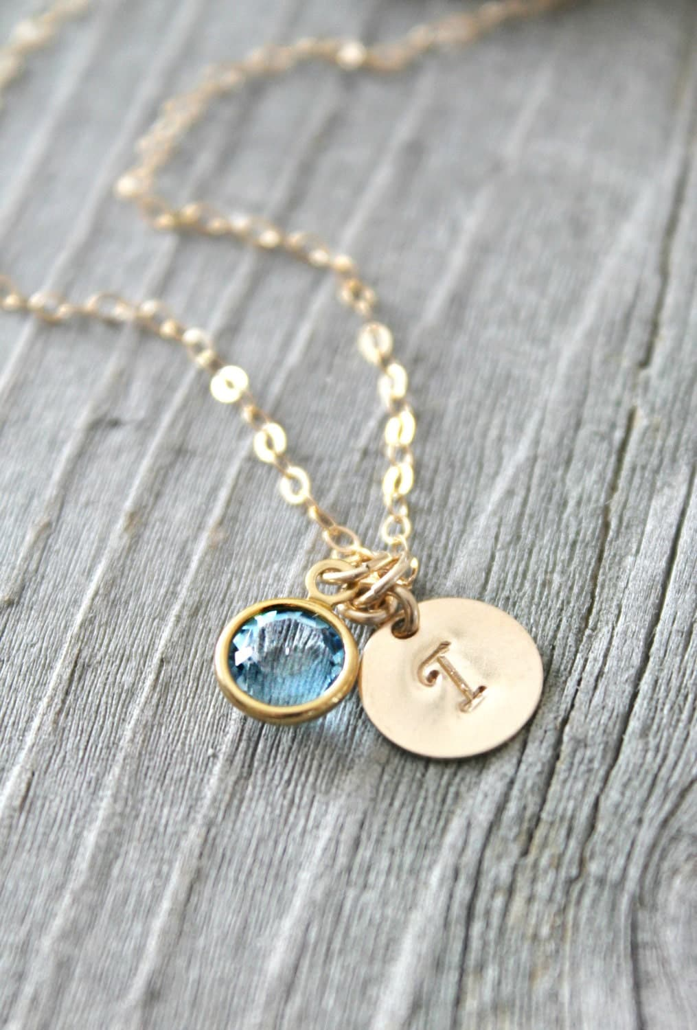Personalized 14k Gold Filled Necklace With Custom Stamped