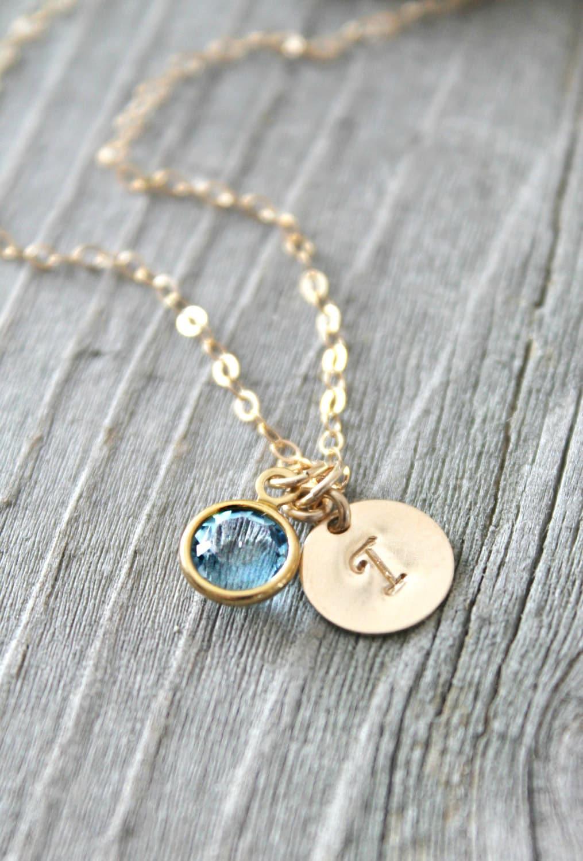 personalized 14k gold filled necklace with custom stamped. Black Bedroom Furniture Sets. Home Design Ideas