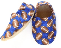 Football Baby Boy Shoes, Baby Booties, Baby Soft Shoes, Slip On Baby Shoes, Baby Boy Gift