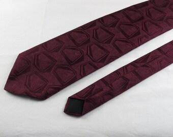 Vintage Men's Tie, Velducci, Maroon