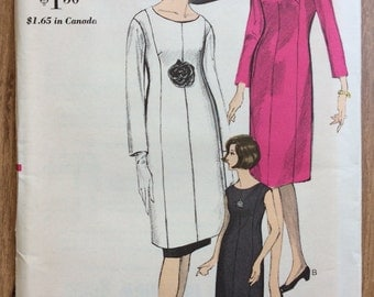 UNCUT Vintage 1960's Dress, Tunic, Skirt Sewing Pattern Vogue 6271