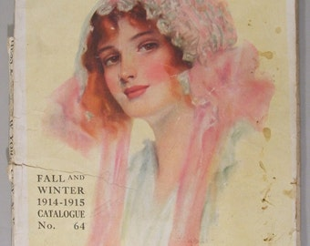 Vintage Fashion Catalog Bellas Hess & Co Ladies Clothing early 1900's over 100 pages framing quality