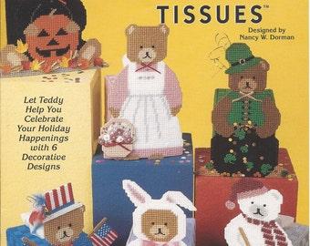 Plastic Canvas Pattern Book Teddy Bear Tissues - The Needlecraft Shop - Patriotic Bear, Bunny, Snowman, Halloween, St. Patrick's, Grandma