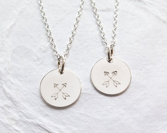 Friendship Necklace Set of 2, BFF Necklace for 2, Crossed Arrow Necklace, Gift for Best Friend, Teenager Jewelry, Dainty, Hand Stamped