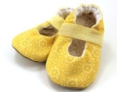 yellow mary janes baby girl shoes yellow flower mary jane baby booties toddler mary janes elastic shoes for baby girl rubber sole shoes