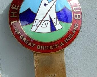 Vintage Enamel Car Badge - The Camping Club of Great Britain & Ireland