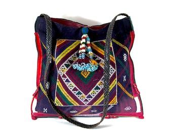 black tai bag, ethnic handbag, tribal handbag, hmong bag, ethnic shoulder bag