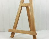 Beechwood Tabletop Easel, 10 inch Wood Easel, Small Working Easel Display Banquet Table Sign Holder