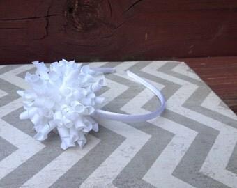 White Korker Bow Headband