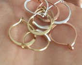 4 pair of cute little hoop earrings dainty thin small hoopearrings lot simple gold rose gold silver