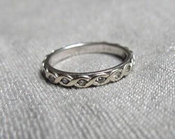 1970s Diamond Eternity Ring - 14K White Gold
