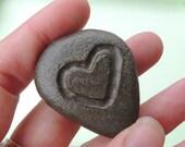 Engraved Pocket Stone, Engraved Worry Stone, Heart Shaped Worry Stone, Heart Pocket Rock, Lucky Travel Companion, Engraved Stone,