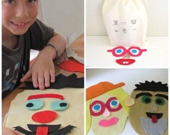 Funny Felt Faces Set, Preschool Toy