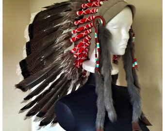 Beautiful, hand-made warrior headdress