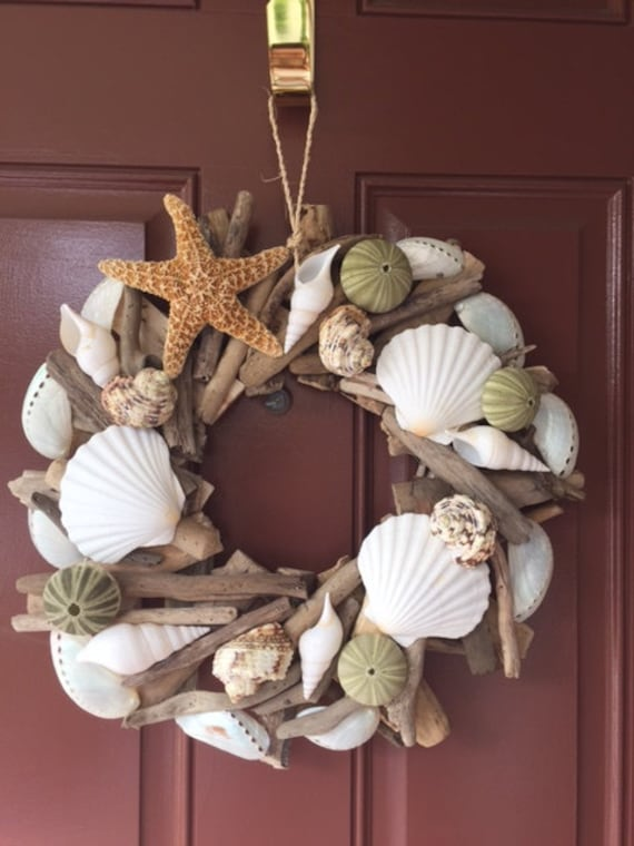 Seashell Amp Starfish Driftwood Wreath Urchin Wreath