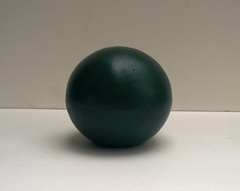 """Decorative Sphere, Hunter Green, Hand-Crafted Cement Ball, Cast Sculpture, 4"""" Or 5"""" Size"""