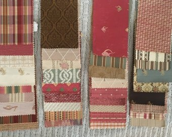 Lot of 36 Vintage Fabric Samples Decorator Upholstery Swatches for Crafting