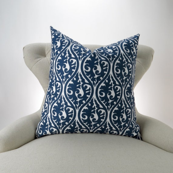 Throw Pillow Euro Sham : Navy Throw Pillow Euro Sham Accent Pillow Decorative
