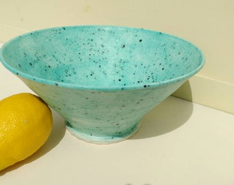 Ceramic Fruit Bowl Large  Pottery Salad Bowl Made in UK Perfect Wedding Gift idea