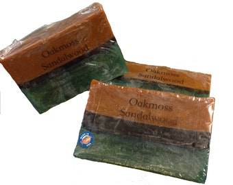 Oakmoss Sandalwood, Sandalwood Soap, Oakmoss Soap, Mens Soap, Natural Soap, Hand and Body Soap, Lotions and Potions