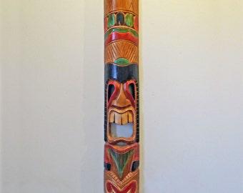 Tiki Totem Pole Wall Hanging