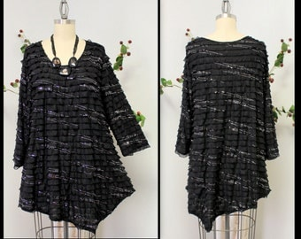New Dare2bstylish Asymmetrical Designer Bling Bling Lagenlook Tunic in Plus size.1xl TO 3x.