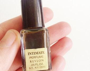 vintage intimate perfume revlon mini bottle