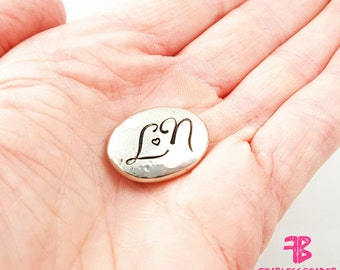 Love Token, Pocket Token, Personalized Pocket Stone,  Handstamped Pebble, Gift For Him, Pocket Pebble, Pocket Stone