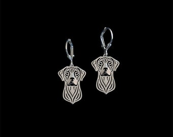 Rhodesian Ridgeback earrings - sterling silver