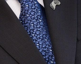 Bull Terrier brooch - sterling silver