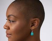 Turquoise Teardrop Earrin...