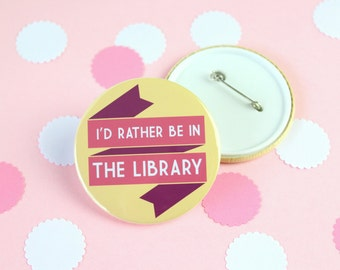 Library Quote Badge, Keyring or Pocket Mirror. Literary Badge Pin. Book Lover Gift. Book Lover Keyring. Penguin Books. Library Gifts. Read