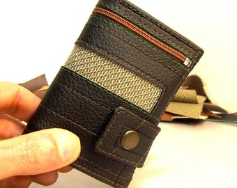 wallet with coin pocket, small wallet, men's wallet, unique wallet, vegan wallet mens, vegan mens wallet, wallets, vegan wallets, men bifold