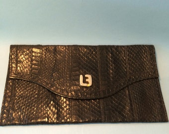 LOUIS FERAUD VINTAGE bag , snake leather