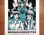 Druggachussettes 18 x 24 inch Screen Printed Poster | GigPoster | ScreenPrint | Mr. Show | With Bob and David | Comedy | Mr Show Print
